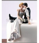 Buy cheap fondant cake decoration cream cake top item Figurine couple porcelain wedding romantic bride groom cake topper from wholesalers