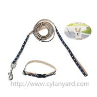Buy cheap Wholesale patterned webbing dog collars and leads, woven logo polyester dog lead lanyard, from wholesalers