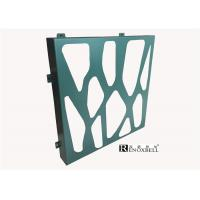 Turquoise Color Perforated Metal Sheet , Decorative Aluminum Sheeting Manufactures