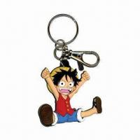 Wholesale Fancy Keychain with Keyring and 3mm Thickness, Measures 65 x 21mm from china suppliers