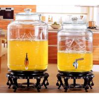 Buy cheap 5L 8L Glass Jar Container Stainless Steel Faucet For Orgnge Juice OEM Accepted from wholesalers