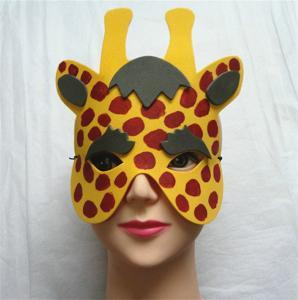 Halloween Christmas Children Cartoon EVA Forest Animal Giraffe Mask Manufactures