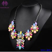 Colorful Candy Color Bead Flower pearl Necklace lady party Jewelry Manufactures