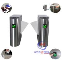 Buy cheap Entry Exit Half Height Rfid Access Control Turnstiles for Office University Office Building from wholesalers