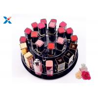 Buy cheap 2 Tiers Round Acrylic Makeup Organiser 360 Degree Rotating For Displaying Lipsticks from wholesalers