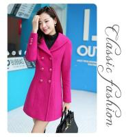 Buy cheap 2015 and big yards dress pure color wool woolen cloth coat of long double-breasted thick f from wholesalers