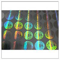 Wholesale Custom printed round hologram sticker label,  anti tamper security waterproof custom hologram label from china suppliers
