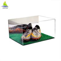 Buy cheap Custom Made Clear Acrylic Shoe Storage Box With Cover Eco - Friendly from wholesalers
