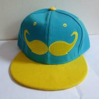 China Custom Beard embroidery logo snapback cap hat,Korea hip hop hats with solid color,small order is accept on sale