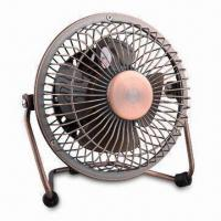 Buy cheap 4-inch Metal USB Mini Fan with PP Plastic Blade and Two Speed Control from wholesalers