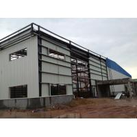 Quality Light Type Steel Structure Warehouse , Customized Prefab Metal Buildings for sale