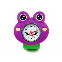 Buy cheap Purple Frog Silicon Slap Bracelet Wrist Watch , 1 ATM / Chinamovement Watches from wholesalers