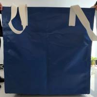 Buy cheap Square Waterproof Recycled Jumbo Bag Flat Bottom / Side Discharge Design 500kg - 1500kg product