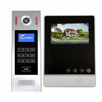 Buy cheap Wired free hands mobile video apartment system 4 inch color LCD monitor swiping card camera security systems from wholesalers