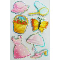 Buy cheap Colorful refrigerator Custom Holographic Stickers Bright PVC PET from wholesalers