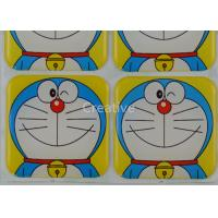 Buy cheap Custom Epoxy Stickers Rectangle Full Color Cartoon Resin Dome Stickers from wholesalers