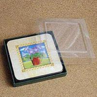 Wholesale 10 x 10cm Cork Back Coaster, Made of MDF, Suitable for Promotional and Gift Purposes from china suppliers