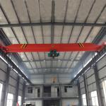 Buy cheap steel red 5 ton 1 phase Cast steel single girder bridge cranes suppler from wholesalers