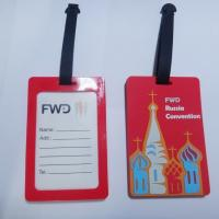 Buy cheap Personalized  FWD Russia Convention Rubber PVC Luggage Tag With Name Tags Inside from wholesalers