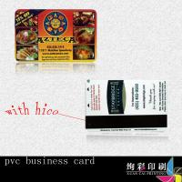 Buy cheap 0.76mm Blue PVC Magnetic Stripe Cards Offset Printing With Signature Panel from wholesalers