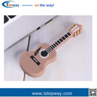 China Promotion gift PVC material and guitar shape music instruments usb flash drive memory on sale