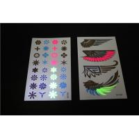 Buy cheap Waterproof hot sale temporary tattoo, shiny wings black light tattoos, UV tattoos from wholesalers