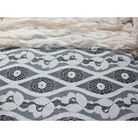 Buy cheap Soft Ivory Cotton Nylon Voile Lace Fabric , Floral Lace Mesh Fabric SYD-0012 from wholesalers