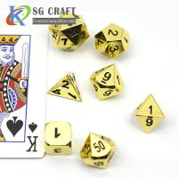 Buy cheap Custom RPG Table Game Metal Side Colorful 7 Pieces D4 D6 D8 D10 D12 D20 5mm Mini DND Polyhedral Dice Set from wholesalers