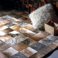 Quality MP Series Luxury Leather Patchwork Carpet Customized 100% Natural Cow Rugs From China Carpetsfactory.com for sale