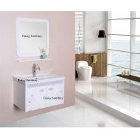 Buy cheap Wall Mounted PVC Bathroom Vanity 2 Doors Dust Free All Sides Polished from wholesalers