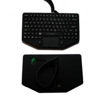 Buy cheap Ruggedized embedded silicone rubber military keyboard with wide temperature and emergency button from wholesalers