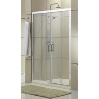 Buy cheap Clear Glass Shower Stall Sliding Glass Doors Chromed Aluminum Profiles CSI Certification from wholesalers