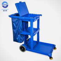 Buy cheap Restaurant Blue Janitor Serving Trolley with Wheels , 114*51*98cm from wholesalers