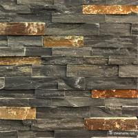 Buy cheap Black Slate With P014 Rust Rock Face Ledge Stone , China Wall Cladding from wholesalers