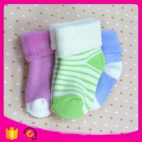 Buy cheap 2017 Cotton95% Spandex5% 11*12cm 20g Wholesale Cheap Cotton Striped Christmas Baby Winter Children Socks from wholesalers