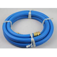 """50ft Length ID 3/4"""" Reinforced Water Hose with 3/4"""" Nickle plated Brass Fittings"""
