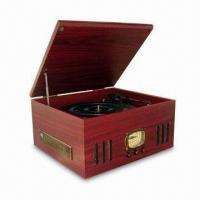 Buy cheap Nostalgia Wooden Music Center with Turntable, AM/FM Radio, Side CD/MP3 Player, Slot-in Type Cassette from wholesalers