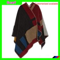 Buy cheap Autumn/Winter Poncho Blanket Scarf Coat Pashmina Cashmere Splicing Cape Women's Shawl from wholesalers