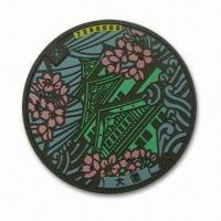 Wholesale Eco-friendly PVC Cup Coasters with Osaka Pattern 2D-effect, Suitable for Promotional Purposes from china suppliers