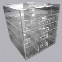 Buy cheap Clear acrylic/Perspex cosmetic/makeup drawer organizer with lid, Lucite drawer box from wholesalers