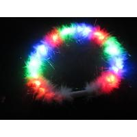 Buy cheap 4R 3B 3G White Feather Blinky Flashing LED Necklace For Children, Party SR-LN1881 from wholesalers