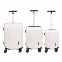 Wholesale PC Hardside White Travel Luggage Sets from china suppliers