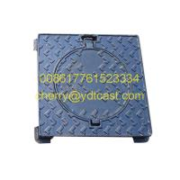 China OEM&ODM Round Manhole Cover 500mm x 500mm drain cover with dual Lockable Frame on sale