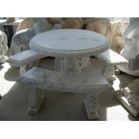 Wholesale Outdoor Garden Natural Marble Stone Bench statue from china suppliers