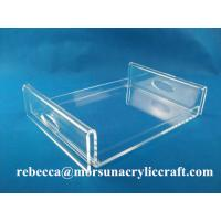 Buy cheap Fashionable restaurant clear acrylic towel holder, acrylic towel tray for hotel supplies from wholesalers