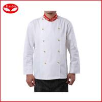 Buy cheap 100% cotton kitchen suits chef jackets and pants for men , Europe size from wholesalers