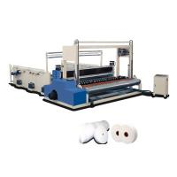 China Big Industrial Paper Roll Rewinding Machine 1200mm With Edge Embossing on sale