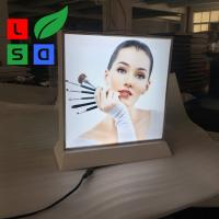 Buy cheap LED Fabric Light Box Double Side Desktop Light Box Picture Frame from wholesalers
