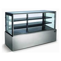 Buy cheap Stainless Steel Refrigerated Bakery Display Case , Bakery Fridge Display from wholesalers