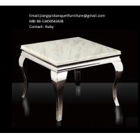 Buy cheap Marble Tea Table Stainless Steel Frame from wholesalers